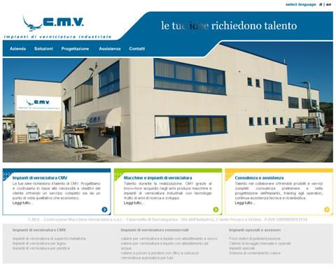 CMV costruzione macchine e impianti verniciatura industriale Serrungarina Pesaro Urbino